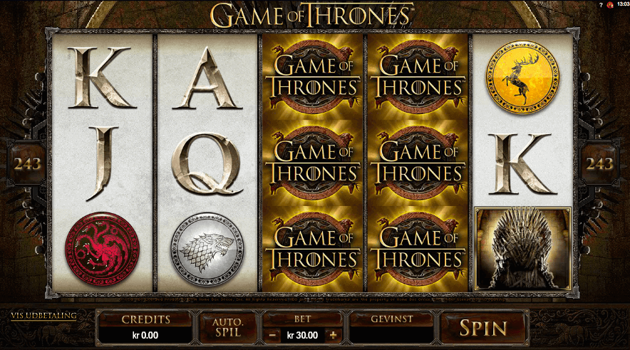 Games of Thrones hos Tivoli Casino