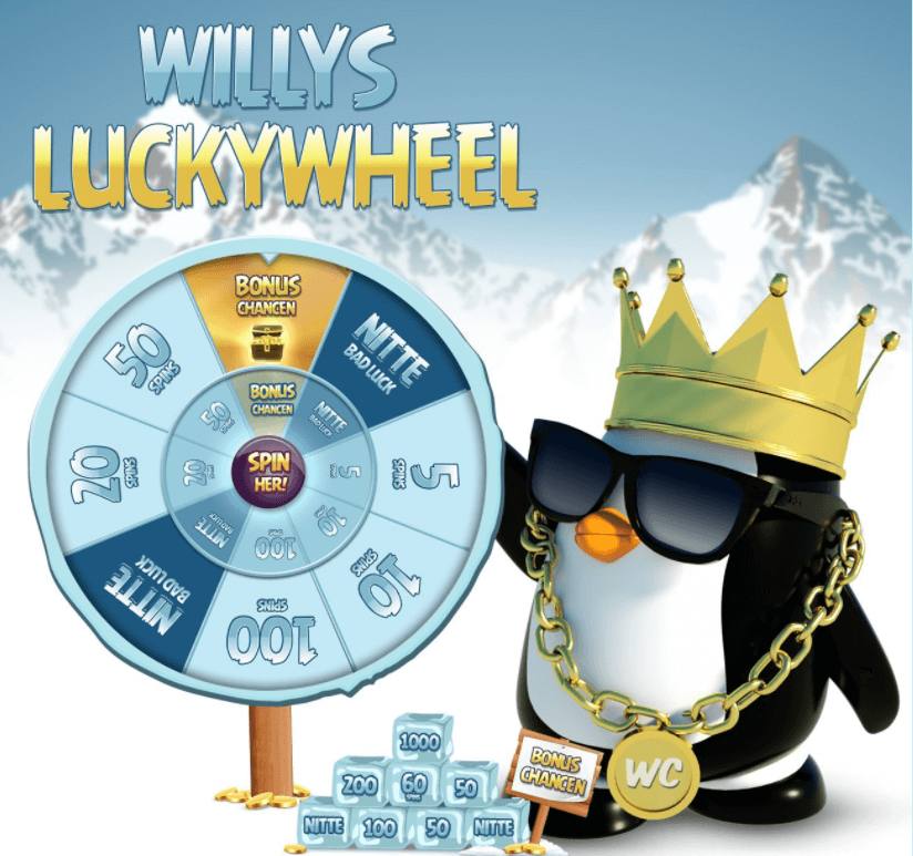 Willy Casino lucky wheel