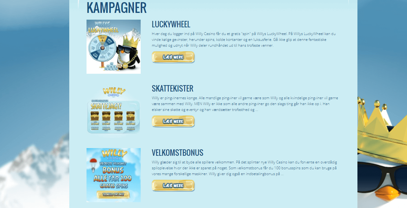 Willy Casino kampagner